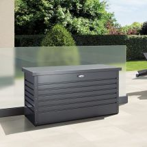 biohort Hochwertige Freizeitbox «Metall» 460 Liter anthrazit