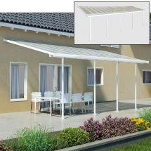 Couvert pour terrasse 9,71×3,0×2,6-3,05 m