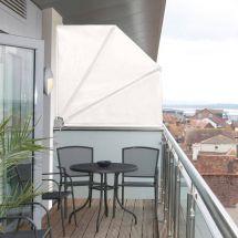 Balkonfächer «Creme-Weiss»