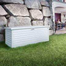 biohort Coffre de rangement de haute qualité «Métal» 460 litres, blanc
