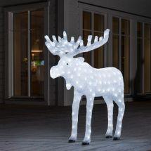 LED Acryl Elch, gross, mit 200 kalt-weissen LED