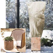 Action d'hiver housse en non-tissé et protection pot