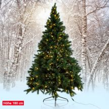 Sapin «Canada»  avec 310 LED blanches-chaudes, 180 cm