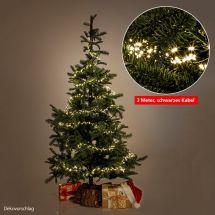 LED Lichterkette «Angel Cluster sunny-warm» schwarzer Draht 320 LED, 3 m lang