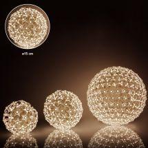 LED Lichtkugel «Star» 100 LED warm-weiss, Ø 15cm
