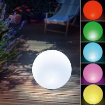 Solar LED Leuchtkugel «Rainbow», Ø 40 cm