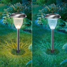 LED Solarleuchte Flower «Duo Color»