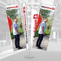 Fahnenburg im Digitaldruck, 4-teilig