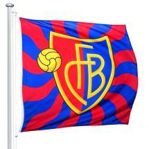 Drapeaux de sport FC Basel «flammé» officiel Superflag® 150x150 cm