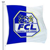 Sportfahne FC Luzern official Superflag® 150x150 cm