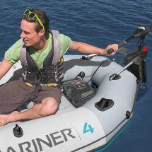 INTEX Schlauchboot «Mariner», inklusive Elektromotor, Halter, 2 Paddel und Luftpumpe, für 4 Personen