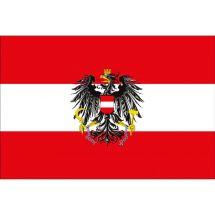 Länderfahne Österreich mit Wappen