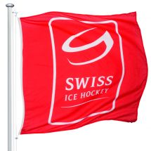 Drapeaux de sport Swiss Ice Hockey officiel Superflag® 150x150 cm