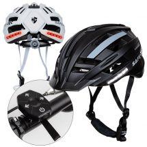 Casque de vélo avec lumière, clignotant et Bluetooth