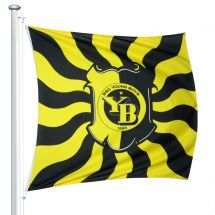Sportfahne BSC YB official «Geflammt Wappen» Superflag® 150x150 cm