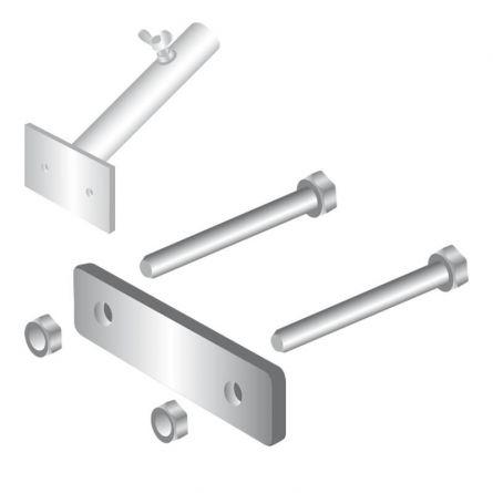 Balkonbride Fahnenstangenhalter 1-armig Stahl feuerverzinkt