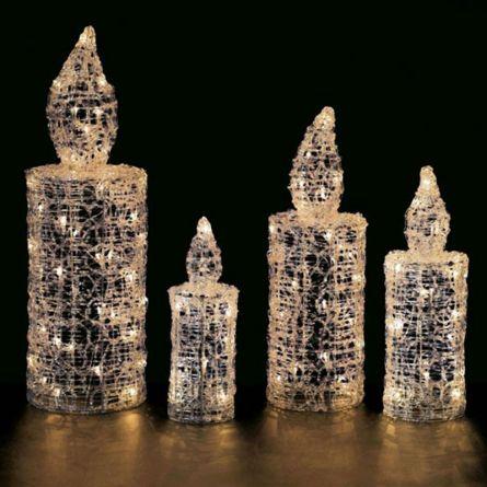 LED Crystal Kerze 25 cm hoch