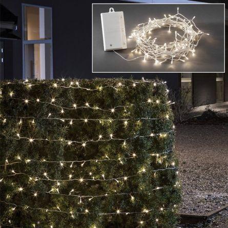 LED Lichterkette «Batteriebetrieben», (Kabel transparent)