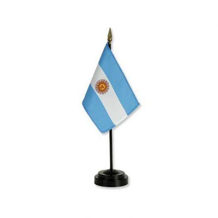 Tischfahne Argentinien Kunstseide 10x15 cm