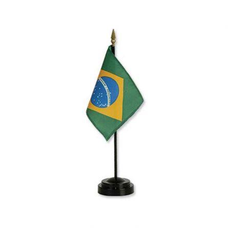 Tischfahne Brasilien Kunstseide 10x15 cm