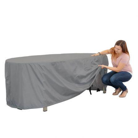 Bâche pour table ovale, 250x120x70cm