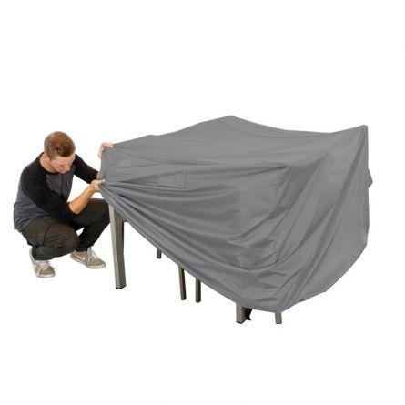 Bâche pour table rectangulaire avec des chaises, 150x100x100cm