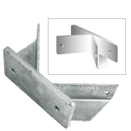 Eckhalter zu Fahnenstangenhalter 2-armig ø 30 mm