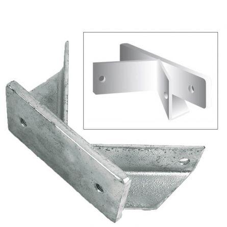 Eckhalter zu Fahnenstangenhalter 3-armig ø 30 mm