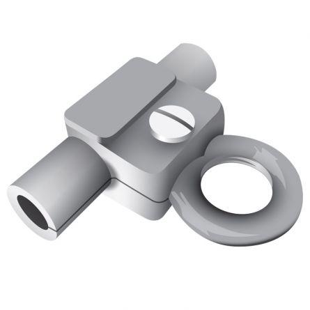Fahnenhalter für Stahlseil