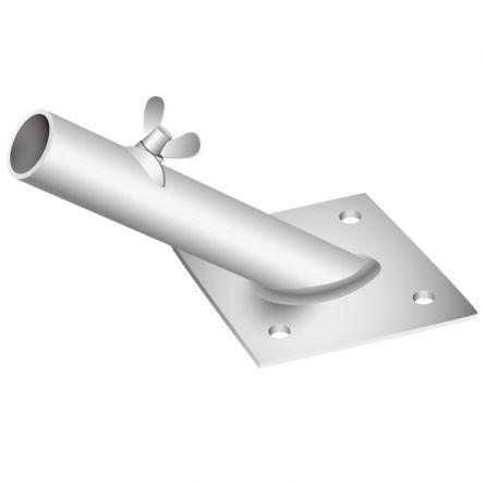 Fahnenstangenhalter für Fenstersims und Vordach, 55° ø 30 mm