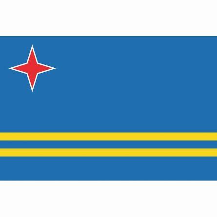 Länderfahne Aruba