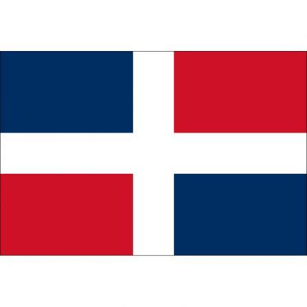 Länderfahne Dominikanische Republik ohne Wappen