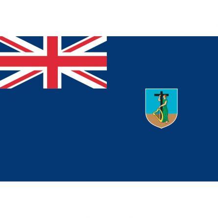 Fahne Gebiet Montserrat Vereinigtes Königreich