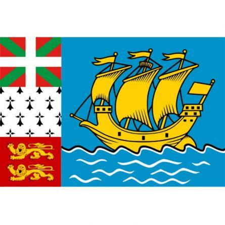 Fahne Gebiet St. Pierre und Miquelon Frankreich