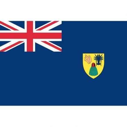 Fahne Gebiet Turks- und Caicosinseln Vereinigtes Königreich