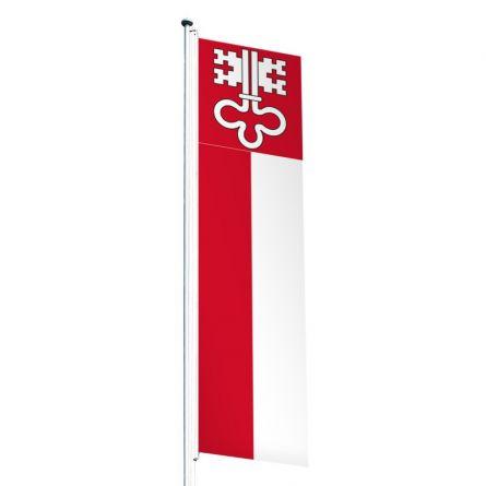Drapeau crépitant canton Nidwald Superflag® 80x300 cm