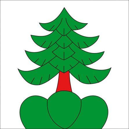 Gemeindefahne 2543 Lengnau BE