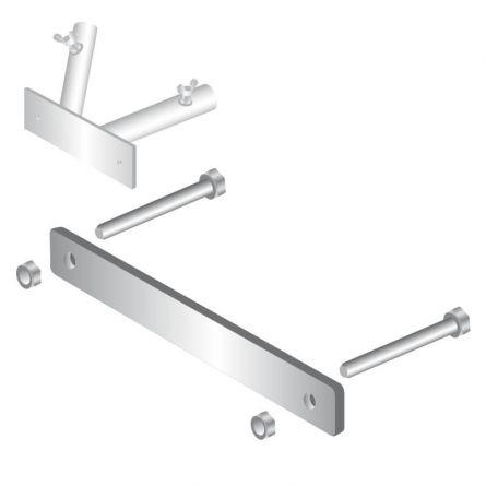 Balkonbride Fahnenstangenhalter 2-armig Stahl feuerverzinkt