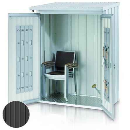 Set de portes adéquates pour abri à bûches et armoire à outils «2 en 1» taille M