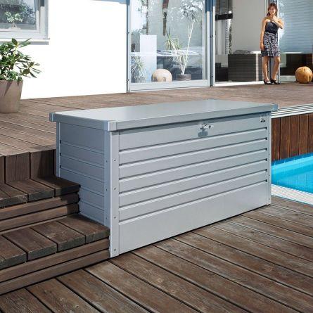 biohort Hochwertige Freizeitbox «Metall» 800 Liter silber