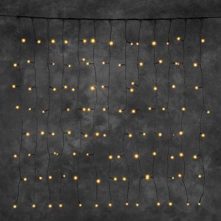 LED Lichtervorhang «STAR NEO-sw» 100 bernstein LED 100×100 cm