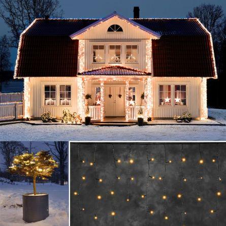 LED Eisregenkette «STAR NEO-sw»