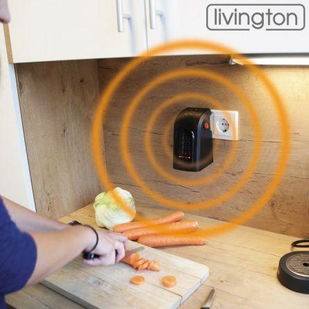 Mediashop Mini-Heizlüfter Livington «Handy Heater» 500 Watt