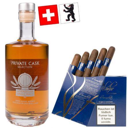 Säntis Malt Whisky und El Comandante Set