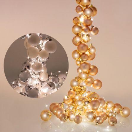 Guirlande de boules avec éclairage LED «Cascade»