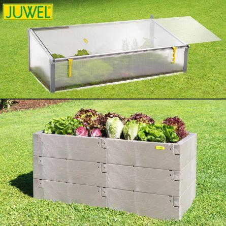 Juwel Aktion Hochbeet Set «Wood», 360 Liter + Beetsystem,  2er Set
