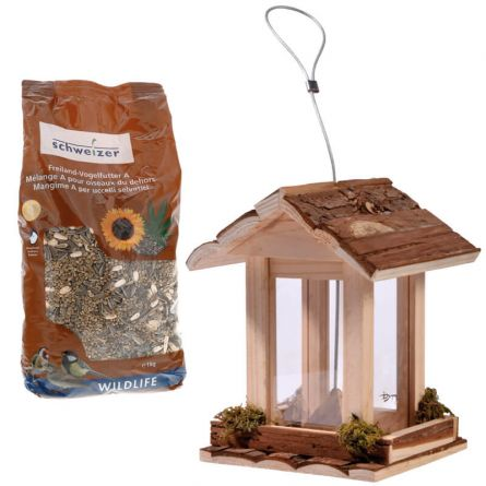 Futterhaus «Natur» inkl. 1 kg Vogelfutter von Eric Schweizer