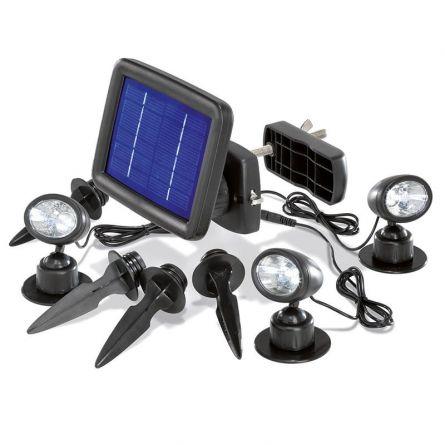 Trio spot solaire avec détecteur de mouvement PIR