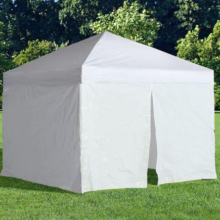 Protection visuelle et contre le vent, set de 5 blanc