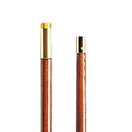 Standarten Set, 2-teilig mit Goldspitze Holz 1,8 m